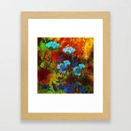 Hello blue poppies! Framed Art Print