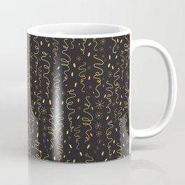 Luxury Black Gold Party Streamers Pattern Seamless Vector Coffee Mug