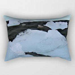 Diamonds in the Black Sand Rectangular Pillow