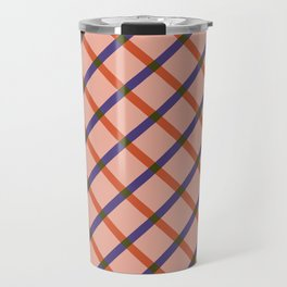 Bright Modern Grid Travel Mug