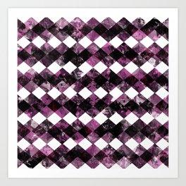 Purple Diamonds I Art Print