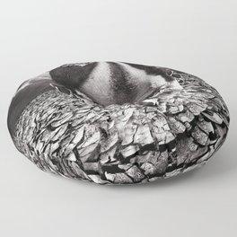 Inhabited Head Grayscale Floor Pillow