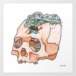 Mountain Fresh Hair: Blue Mountain Art Print