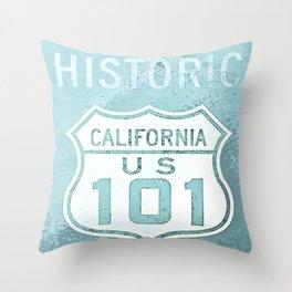 Route 101 Throw Pillow