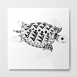 Ms. Turtle Metal Print