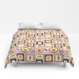 FRAMED FLORAL ART Comforters