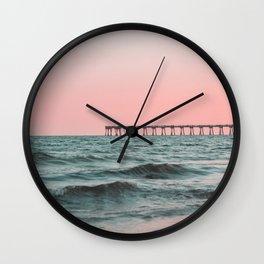 Pink Ocean Wall Clock