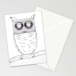 Owl cassette Stationery Cards