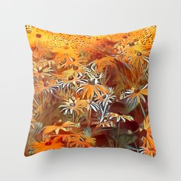 Atomic  Field Throw Pillow