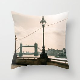 London in the morning Throw Pillow