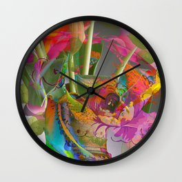 The Smell of Our Digital Flower Park Wall Clock