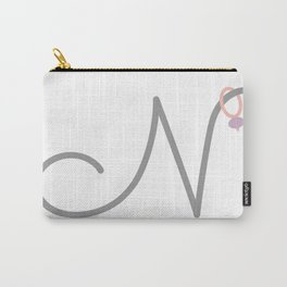 N Initial with Stitch Marker Carry-All Pouch