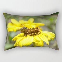 Honey Bee Working Rectangular Pillow