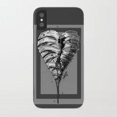 Razor Blade Romance (Black and White Version) iPhone X Slim Case
