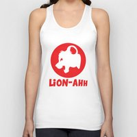 simba Tank Tops featuring Lion-ahh by Mike Nieuwstraten