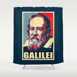 Galilei Propaganda Propaganda Pop Art Shower Curtain