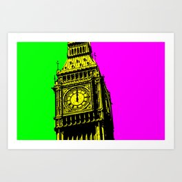 Big Ben - In all her coloured glory... Art Print