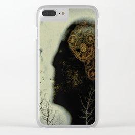 Rusty Gears Clear iPhone Case