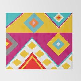 Mayan Print Throw Blanket