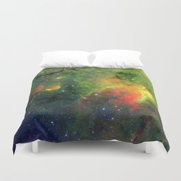 Galactic Snake in Infrared Milky Way Duvet Cover