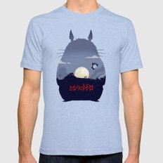 My Neighbor SMALL Tri-Blue Mens Fitted Tee