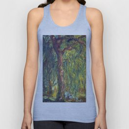1918-Claude Monet-Weeping Willow-99 x 120 Unisex Tank Top