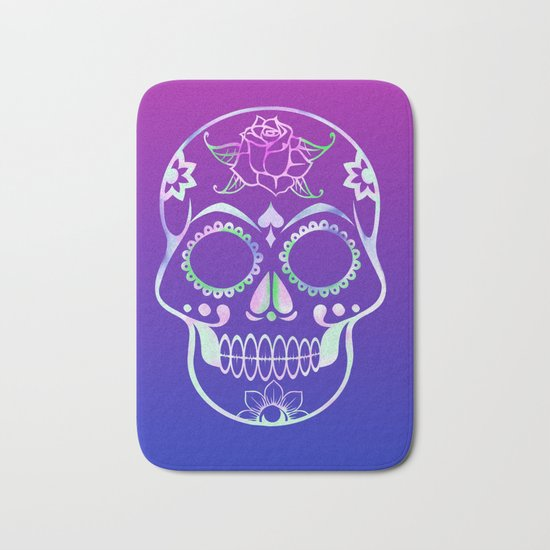 Love Skull (violette gradient) Bath Mat