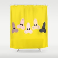dick Shower Curtains featuring Funny Dick by Colocolo Design | www.colocolodesign.de