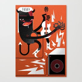 """Devil"" Monster Rock Canvas Print"