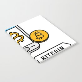 Pay With Bitcoin (Mobile Payments) Icon Notebook