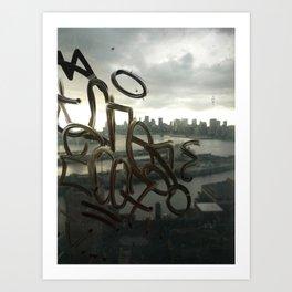 Graffiti Skyline Art Print