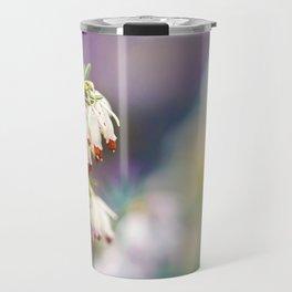 White Heather Flower Travel Mug