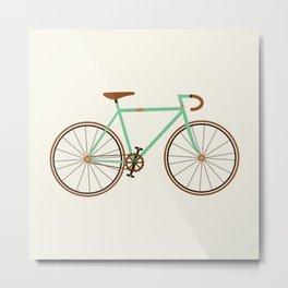 Green Fixie Metal Print