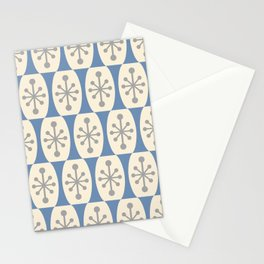Mid Century Modern Atomic Fusion Pattern 105 Stationery Cards
