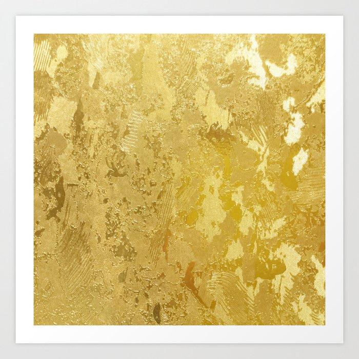 golden vintage Art Print