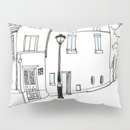 Montmartre street in Paris Pillow Sham