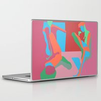 nudes Laptop & iPad Skins featuring three nudes by design lunatic