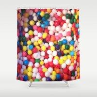 sprinkles Shower Curtains featuring sprinkles by NatalieBoBatalie
