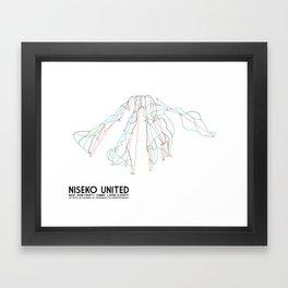 Niseko United, Japan - North American Edition - Minimalist Trail Art Framed Art Print