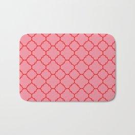 Quatrefoil - Pink & Red  Bath Mat