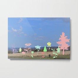 Landscape floral Metal Print