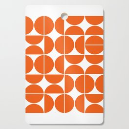 Mid Century Modern Geometric 04 Orange Cutting Board