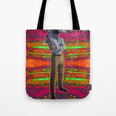 crow head sees all Tote Bag