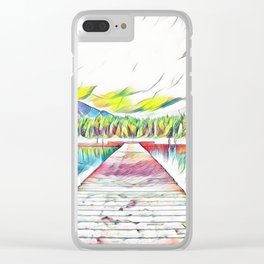 Pastel Rainbow Lake Clear iPhone Case