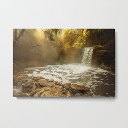Thermal Waterfall- Wai O Tapu Metal Print