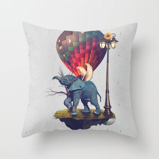 Lfant. Throw Pillow