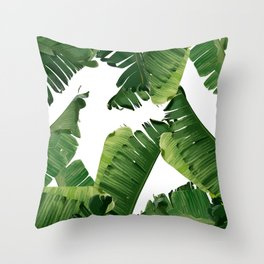 Banana Green Throw Pillow