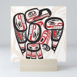 Salish Eagle Coastal Strength Mini Art Print