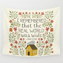 """Jane Eyre """"World Was Wide"""" Quote Wall Tapestry"""