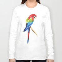 parrot Long Sleeve T-shirts featuring Parrot by Bridget Davidson